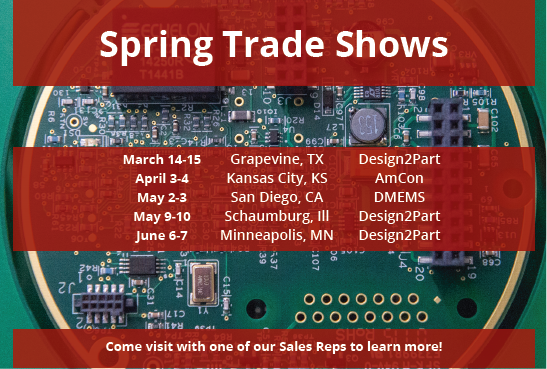 2018 Spring Trade Shows – EI Microcircuits Will Be Near You! Image